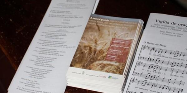 Folha de Cânticos da Vigília de Oração pelas ordenações