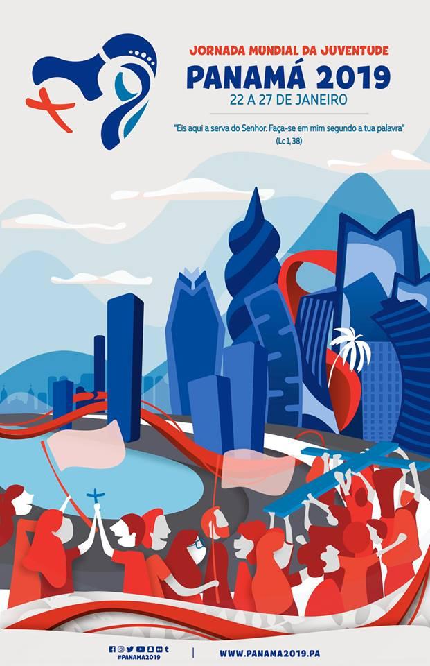 cartaz oficial da Jornada Mundial da Juventude