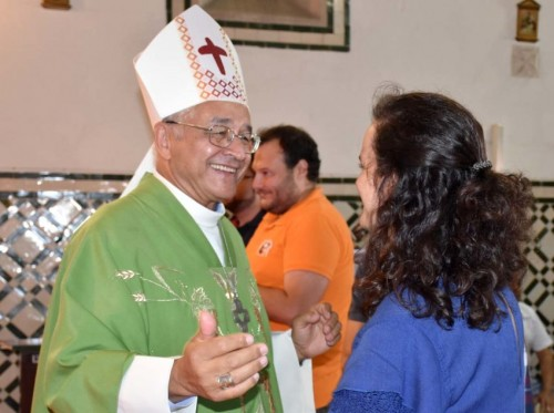 Bispo e nova coordenadora - foto Diocese de Setúbal